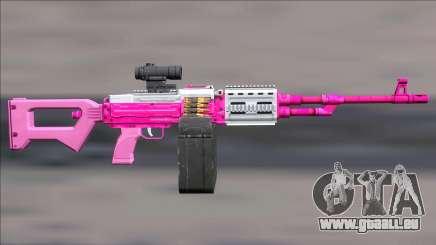 GTA V Shrewsbury MG Pink Scope (Extended clip) pour GTA San Andreas