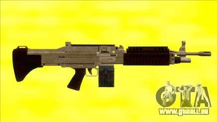 GTA V Combat MG Army Small Mag pour GTA San Andreas