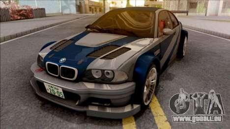 Razor BMW M3 GTR pour GTA San Andreas