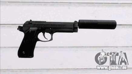 Beretta 92FS Suppressed für GTA San Andreas