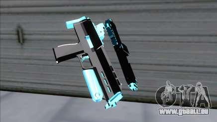 Weapons Pack Blue Evolution (microuzi) für GTA San Andreas