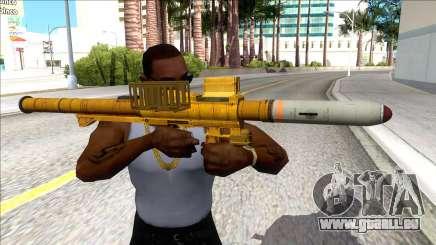 Hawk & Little Homing Launcher Gold für GTA San Andreas