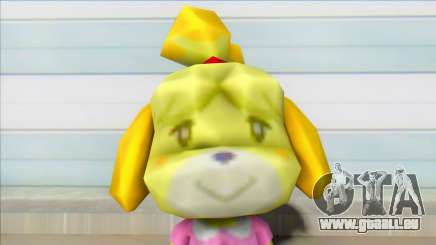 Animal Crossing Isabelle Informal Clothes Skin pour GTA San Andreas