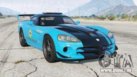 Dodge Viper SRT-10 ACR Hot Pursuit Policᶒ pour GTA 5