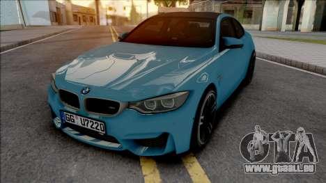 BMW M4 F82 2018 Blue pour GTA San Andreas