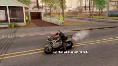 Can Not Fall Off The Bike pour GTA San Andreas