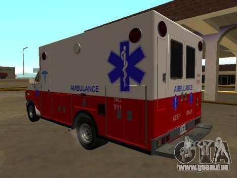 GMC Vandura 1985 Ambulance pour GTA San Andreas