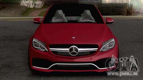 Mercedes-Benz C63S AMG V8 Biturbo pour GTA San Andreas