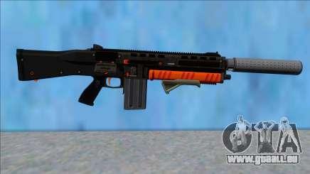 GTA V Vom Feuer Assault Shotgun Orange V4 pour GTA San Andreas