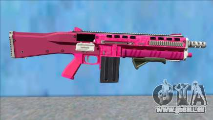 GTA V Vom Feuer Assault Shotgun Pink V10 für GTA San Andreas
