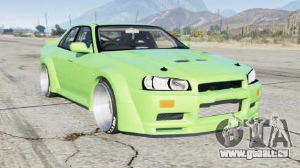 Nissan Skyline sedan (ER34) Rocket Bunny pour GTA 5