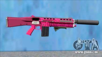 GTA V Vom Feuer Assault Shotgun Pink V4 für GTA San Andreas