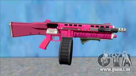 GTA V Vom Feuer Assault Shotgun Pink V5 für GTA San Andreas