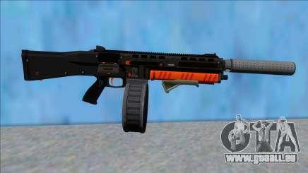 GTA V Vom Feuer Assault Shotgun Orange V3 pour GTA San Andreas
