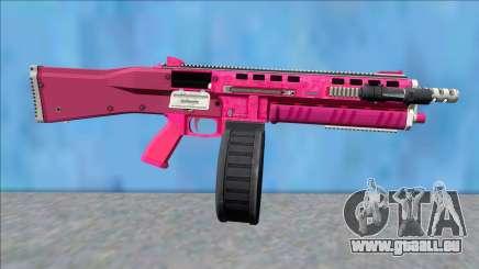 GTA V Vom Feuer Assault Shotgun Pink V11 für GTA San Andreas