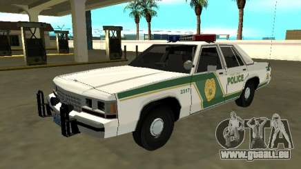 Ford LTD Crown Victoria 1991 Miami Dade M Police pour GTA San Andreas
