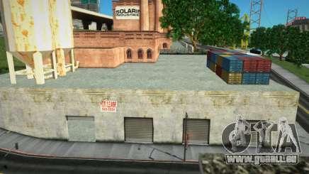 Boîte de garage ouverte dans la zone industrielle de San Fierro pour GTA San Andreas