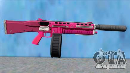GTA V Vom Feuer Assault Shotgun Pink V7 pour GTA San Andreas