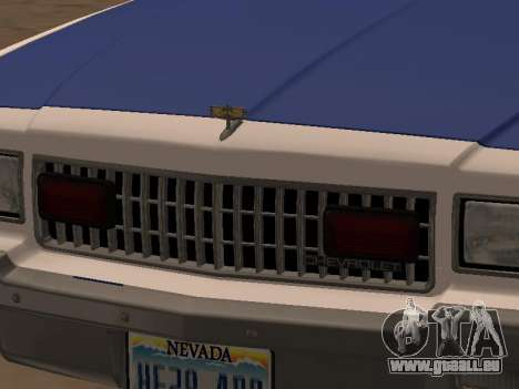 Chevy Caprice 1987 NYPDT Police Edited Version für GTA San Andreas