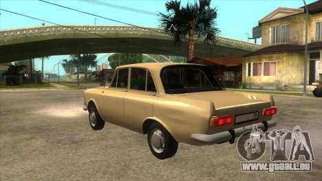 Moscovite 412 77RUS pour GTA San Andreas