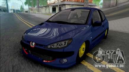 Peugeot 206 by ErFan pour GTA San Andreas