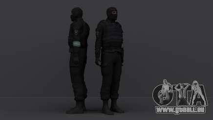 Un officier de police d'émeute utilisant un masque pour GTA San Andreas