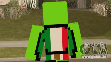 Mexican Dream Minecraft Skin pour GTA San Andreas