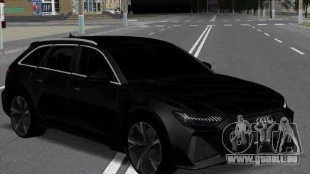 Audi RS6 Avant Black pour GTA San Andreas