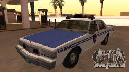 Chevy Caprice 1987 NYPDT Police Version éditée pour GTA San Andreas