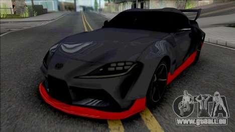 Toyota GR Supra Grey pour GTA San Andreas