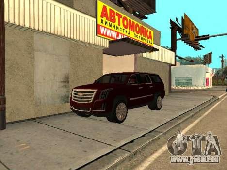 Cadillac Escalade 2019 final pour GTA San Andreas