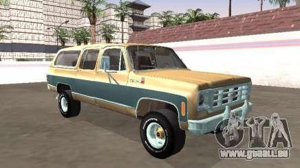 Chevrolet Suburban Deluxe 1974 pour GTA San Andreas
