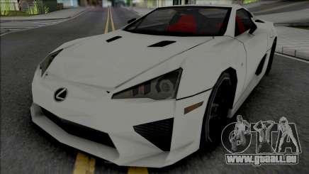 Lexus LFA 2011 SA Style [VehFuncs] pour GTA San Andreas