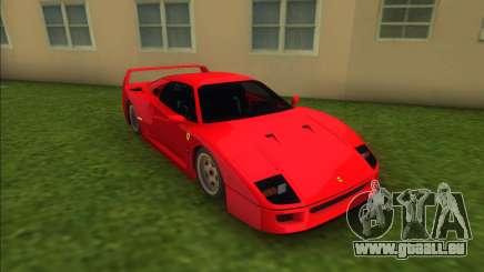 Ferrari F40 (Good car) pour GTA Vice City