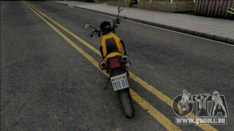 Yamaha XT660 Yellow pour GTA San Andreas