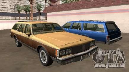 Oldsmobile Custom Cruiser 1980 Corps en bois pour GTA San Andreas