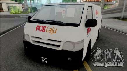 Toyota Hiace PosLaju Malaysian Van pour GTA San Andreas