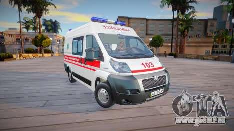 Peugeot Boxer Ambulance Ukraine pour GTA San Andreas