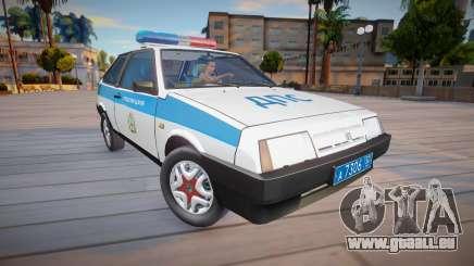 Vaz 2108 KK Polizei (DPS) für GTA San Andreas