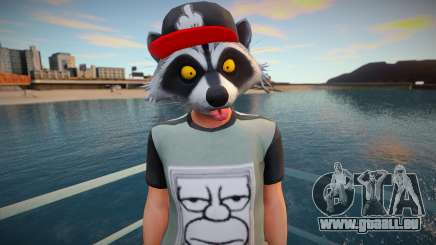 Faggot mask raccoon from GTA Online pour GTA San Andreas