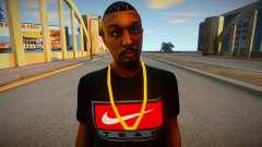 Afro-Américain en T-shirt Nike pour GTA San Andreas