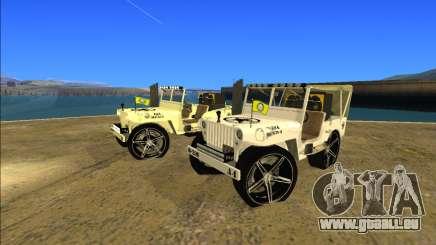 Punjabi Jeep Willy Mod par Harinder Mods pour GTA San Andreas