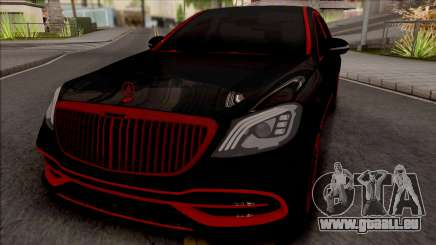 Mercedes-Maybach S650 Black-Red Tuning pour GTA San Andreas