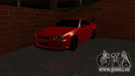 Nissan Skyline GTR34 RUS Plates für GTA San Andreas