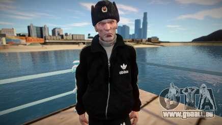 Gopnik adulte au chapeau d'hiver pour GTA San Andreas