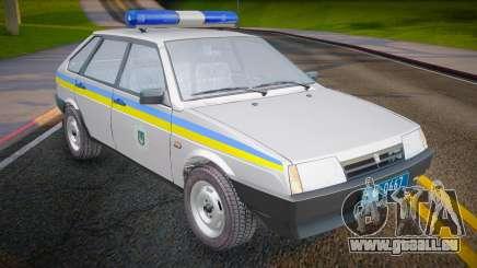 VAZ 2109 Miliz der Ukraine für GTA San Andreas