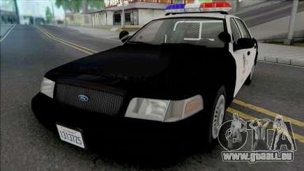 Ford Crown Vic. 2000 CVPI LAPD (Vista Light) v2 pour GTA San Andreas