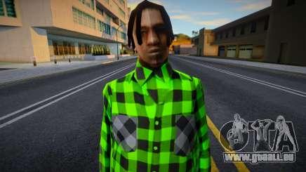 FAM2 dans une chemise à carreaux pour GTA San Andreas