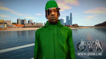 Fam2 RockStar Green pour GTA San Andreas