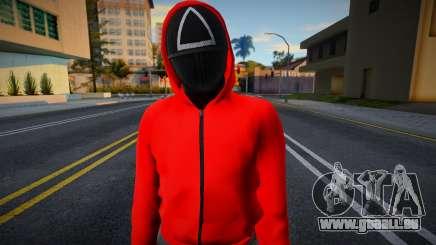 Male Random Guard N2 Squid Game pour GTA San Andreas